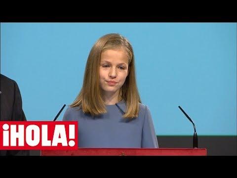 Así fue la primera intervención pública de la princesa Leonor en un acto oficial
