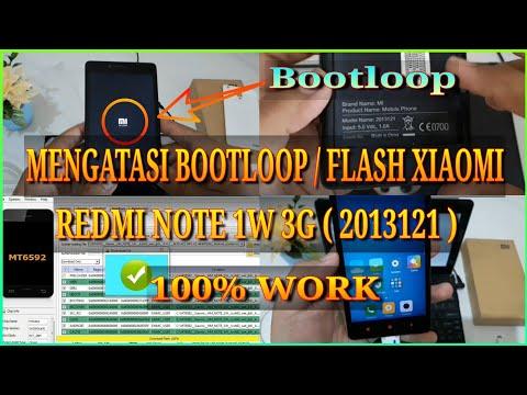 cara-flash-xiaomi-redmi-note-1w-3g-(-2013121-)-|-bootloop