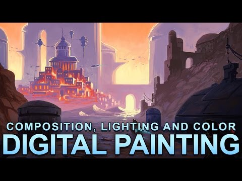 Digital Painting – Composition, Lighting and Color – Part II: Making an image more interesting