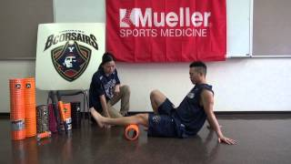 ふくらはぎをGRIDフォームローラーを使ってほぐす TriggerPointTM Performance Therapy 横浜ビーコルセアーズ x Mueller Japan 放散痛 検索動画 13