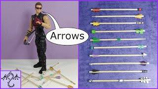How to Make Toy Arrows (1/12 scale) for Action Figures & Other Toys