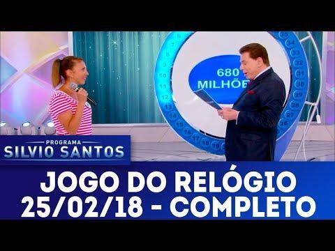 Jogo do Relógio - Completo | Programa Silvio Santos (25/02/18)