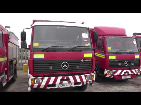 Fire Engines and Fire/ Rescue vehicles for sale direct from UK MOD