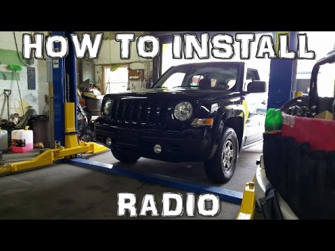 How to Install an Aftermarket Radio Jeep Dodge Chrysler - YouTube