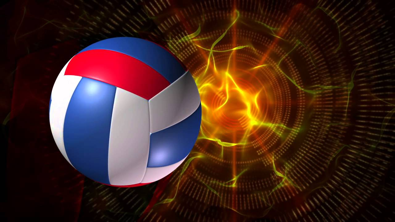 Volleyball Backgrounds: Volleyball 1 Red White And Blue