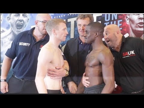 HEATED WORDS EXCHANGED!! - TOM FARRELL v OHARA DAVIES OFFICIAL WEIGH IN & HEAD TO HEAD