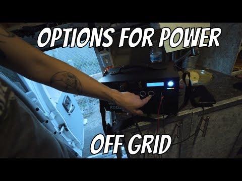 OFF GRID ELECTRICITY OPTIONS, PLUS INERGY KODIAK REVIEW: VAN, RV, CAMPING, BACKUP, SHTF