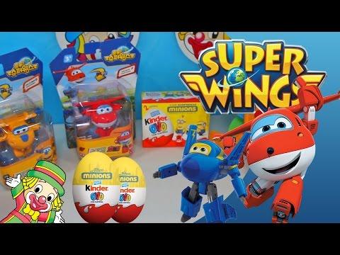 Super Wings Mini Toys em Português Jett Donnie Brinquedos Transformers Olaf Ovo Surpresa Video