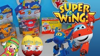 Super Wings Mini Toys em Português Jett Donnie Brinquedos Transformers Olaf Ovo Surpresa Video