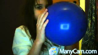 Repeat youtube video Little girl faints from blowing a big balloon