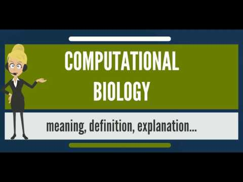 What is COMPUTATIONAL BIOLOGY? What does COMPUTATIONAL BIOLOGY mean?
