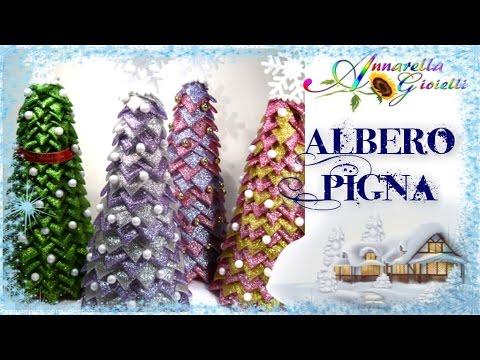 Albero Di Natale Kanzashi.Tutorial Albero Pigna Di Natale Diy Christmas Quilting Tree Youtube