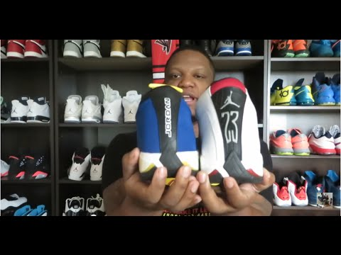 2405d0fc56d4c2 AIR JORDAN 14 RETRO LOW  LANEY  REVIEW AND ON FEET!!! - YouTube