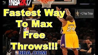 NBA 2K17 MAX FREE THROWS TUTORIAL!