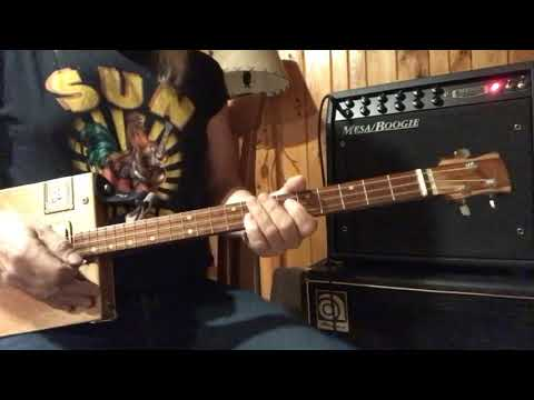 I want to Rock and Roll all night KISS lesson for 3 string Cigar Box Guitars