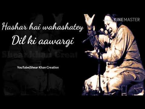 Hashar Hai Wahshat E Dil Ki Awargi Whatsapp Status