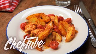 How To Cook Chicken Breast Fillet With Country Potatoes - Recipe In Description