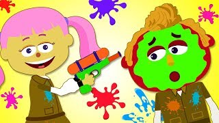 Learn Colors With Paintball For Kids Finger Family Nursery Rhymes by Teehee Town