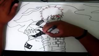 Gaara Speed Drawing