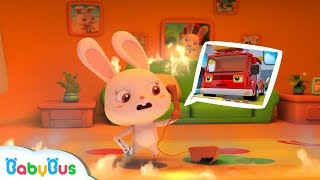 Firefighter! Come and Help Rabbit Momo | Brave Fireman Story | Rescue Team | Kids Role Play |BabyBus