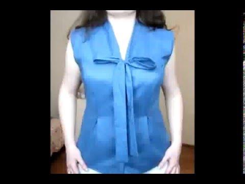 Блузка с вырезом своими руками