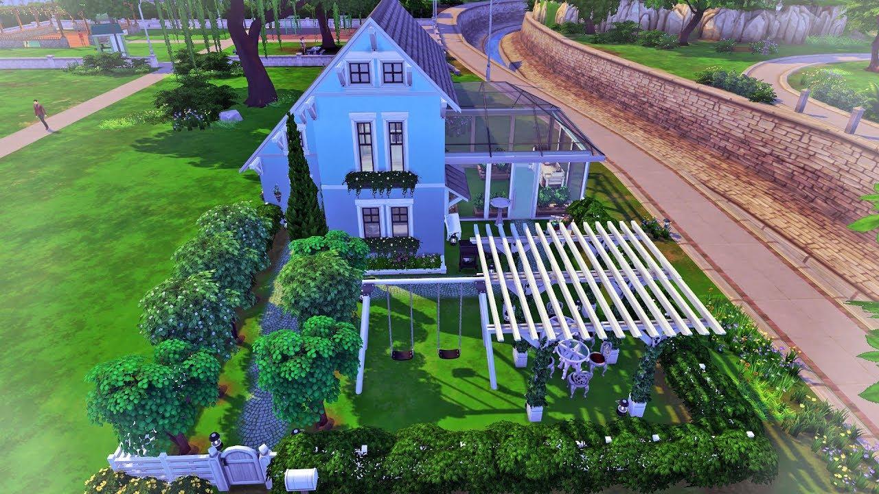Sims 4 Seasons Small House Speed Build no CC
