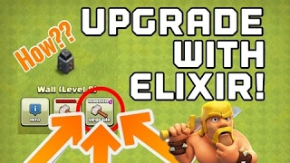 Clash of Clans - CAN YOU UPGRADE WALLS WITH ELIXIR? (Updated 2017) CoC Upgrading Walls With Elixir