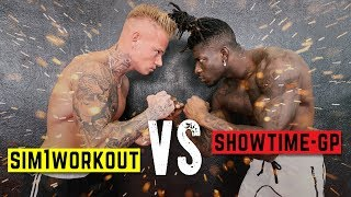 SHOWTIME GP VS SIM1WORKOUT 💣 Gorilla Strength Battle