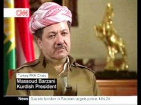 Kurdenführer Massud Barzani im Gespräch