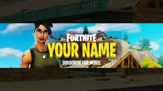 "NEW FREE FORTNITE ""YOUTUBE"" BANNER GFX TEMPLATE! - (Awesome NEW Fortnite GFX Templates 2018!)"
