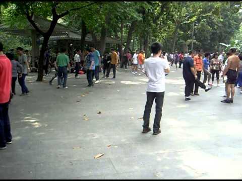 Federball im Yuexiu Park