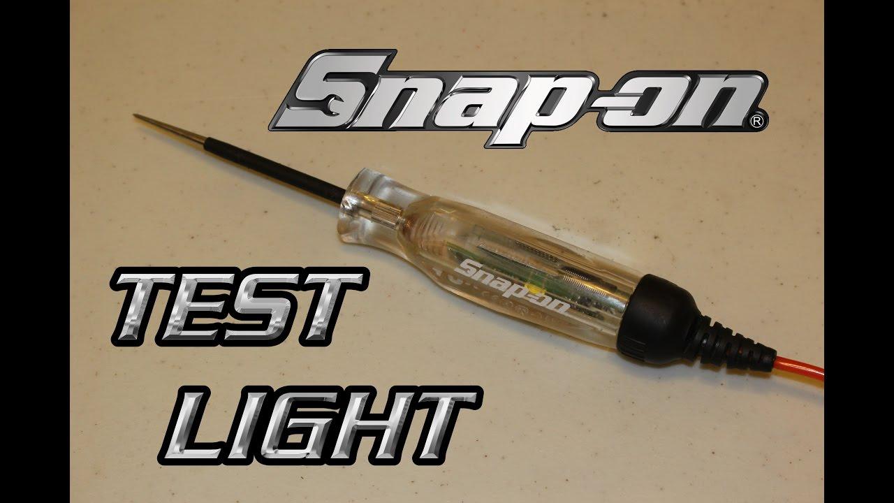 Snap On 12 Volt Test Light Youtube Car Electric Circuit Voltage Probe Tester 45mlength Dc 624v