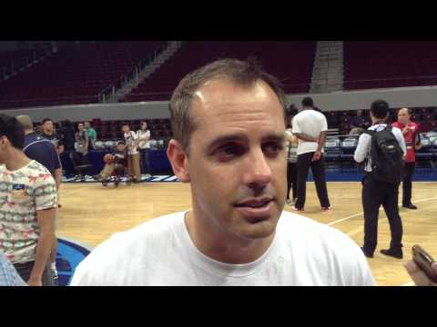 Interview with Indiana Pacers Coach Frank Vogel in Manila