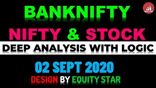 BANKNIFTY NIFTY AND STOCKS ANALYSIS WITH LOGIC || INTRADAY TRADING || 02 SEPT 2020 ||