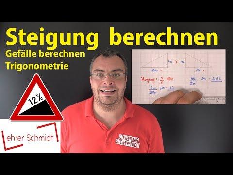Steigung Berechnen & In Grad Umrechnen | Lehrerschmidt - Einfach Erklärt!