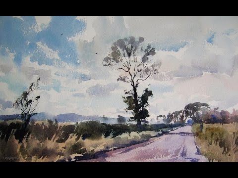 'Tall tree near Pensford' watercolour demonstration by Jem Bowden