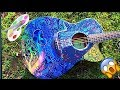 TRIPPY PAINTING ON A GUITAR (time-lapse)
