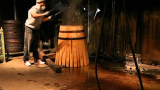 Winemaking: Making Barrels For Cabernet Sauvignon Wine Aging (a Cooperage Demonstration In Action)