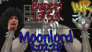 Terraria Speedrun Expert Moonlord WR 2:02:28