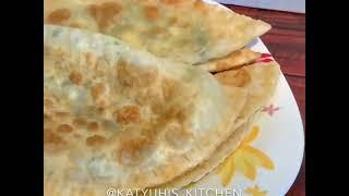 🧀Пирожки-чебуреки с сыром, творогом и зеленью🧀
