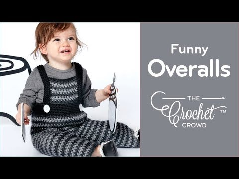 How To Crochet Baby Overalls Funny Dungarees Youtube
