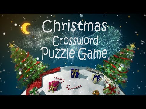 Youtube Puzzle Games  - Christmas Crossword Puzzle - Kids Game Idea - Christmas