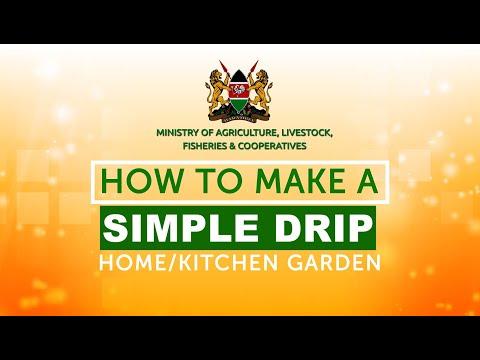 How to make a Simple Drip Home/Kitchen Garden - Kenya