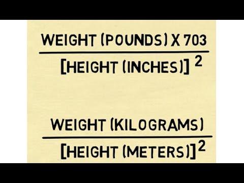Calculate BMI - The Body Mass Index Formula - YouTube