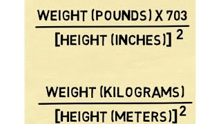 Calculate BMI - The Body Mass Index Formula - YouTube