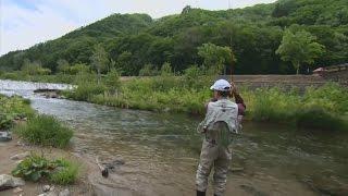 【釣り百景】#152 奥ゆかしきフライフィッシングの世界 福島県奥会津で美しき渓魚と出会う