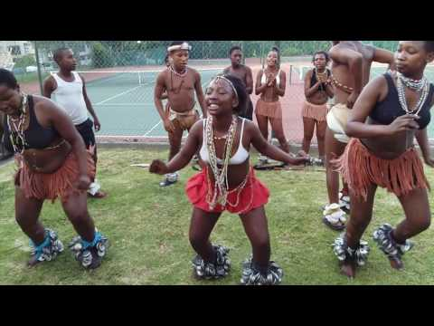 African girls dancing at gardens tennis club cape Town
