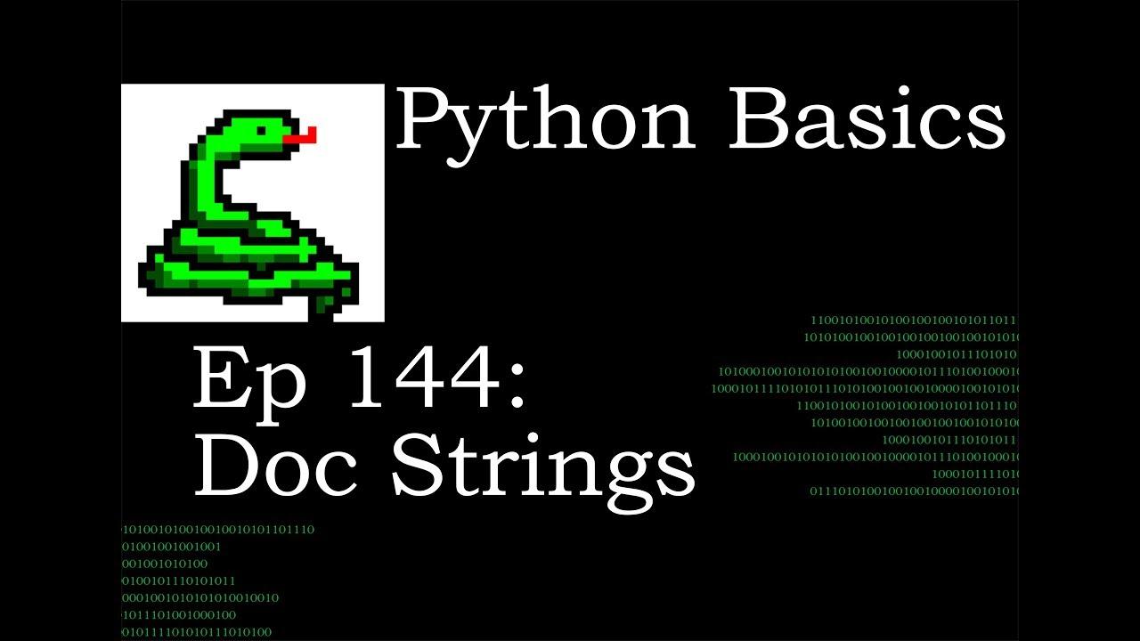 Python Basics Doc String
