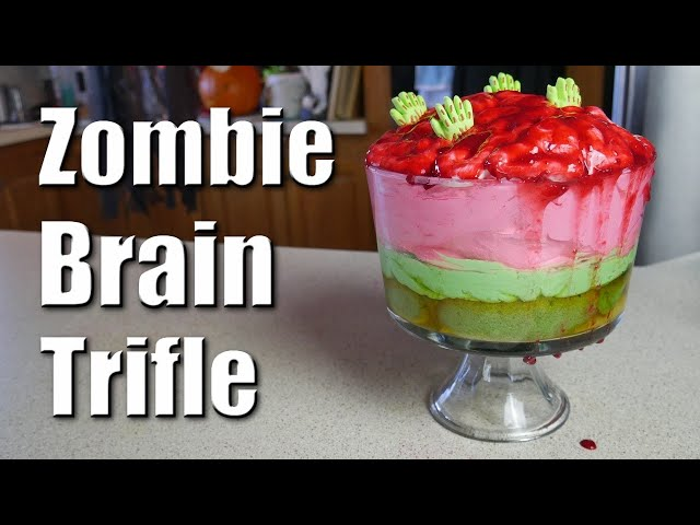 Zombie Brain Trifle | Baking With ChefJohnReed | Halloween
