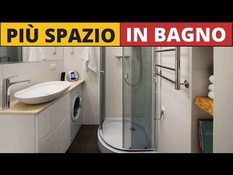 19 Idee salvaspazio per bagni piccoli (o minuscoli)